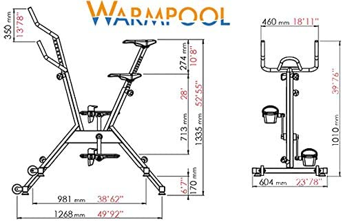Warmpool Prime Oferta!!! Bicicleta AQUABIKE Spinning Profesional ACUÁTICO. Ref WPAQ106A: Amazon.es: Jardín