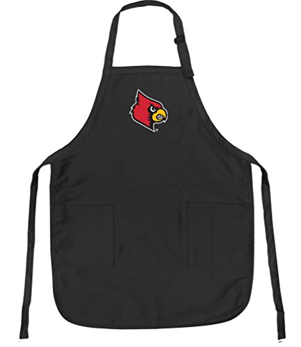 (Broad Bay University of Louisville Aprons Louisville Cardinals w/Pockets Grilling Gift Him Her Men)