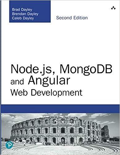 Node js, MongoDB and Angular Web Development (Developer's