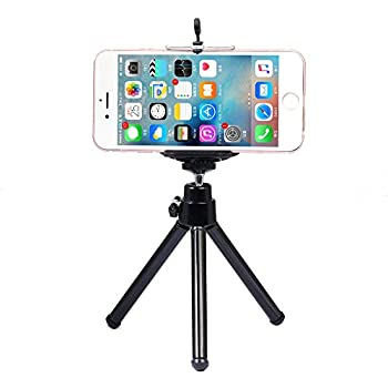 "Mini 360 Rotatable Stand Adjustable Tripod Mount with Holder for Cellphone width 3.3"" under iPhone 6 7 6s Plus 5S 5C 5 4S 4 iPod Touch 4 5 6 Samsung Galaxy S7/S6/S5/S4 HTC One SONY"