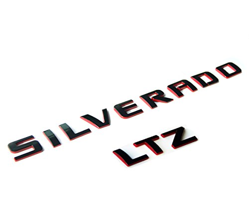 Yoaoo Silverado Ltz Nameplate Letter Emblem 3D Badge 1500 2500Hd 3500Hd Original Silverado Series Ltz Set Red Line