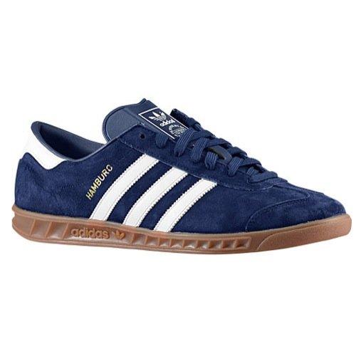 Galleon Adidas Hamburg Classic Men's Shoes NavyWhiteGold