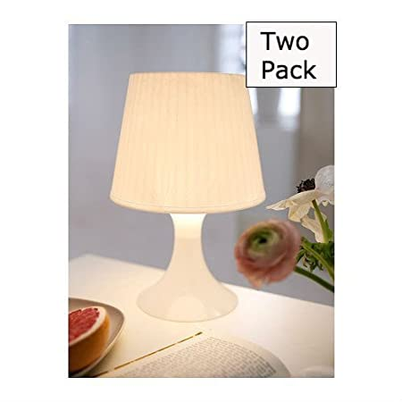 Bedroom Lamps By Ikea   2 Pack | Bedside Lights | White Table Lamp   Pack
