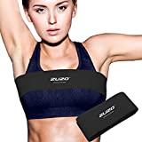 2U2O High-Impact no-Bounce Extra Sports Bra Support Band Alternative Breast Band for Breast Pain,Boob Bounce and Sagging,Black,Large