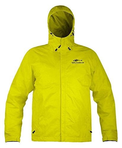 Grunden Men's Gage Weather Watch Jacket, Hi Vis Yellow, Larg