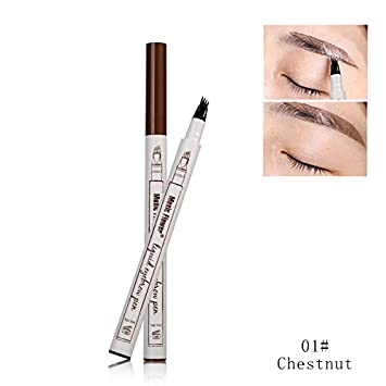 Yiding Waterproof Brows Pen Long-lasting Non Staining Portable Natural Smudge-proof Eyebrow Pencil Makeup Tool