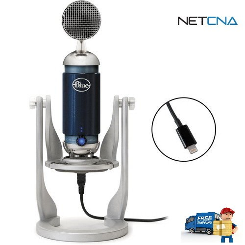 Spark Digital Studio Condenser USB/Lightning Microphone for PC/Mac/iPad and Free 6 Feet Netcna HDMI Cable - By NETCNA