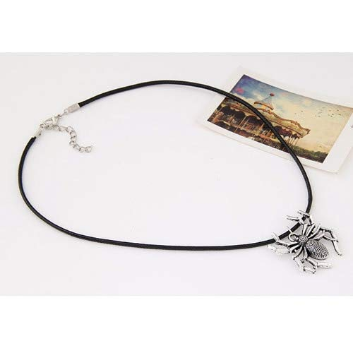 Necklace Hot Sale Europe And The United States Spider Necklace Animal Pendant Leather Strap Necklace For Women And Men