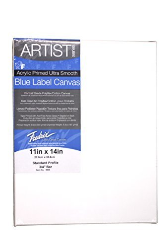 Fredrix 11 by 14-Inch Ultrasmooth Stretched Canvas