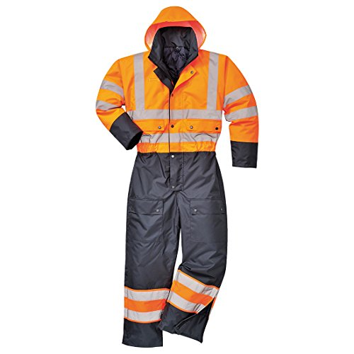 Portwest S485ONRXL Contrast Coverall Lined, X-Large, Orange/Navy from Portwest
