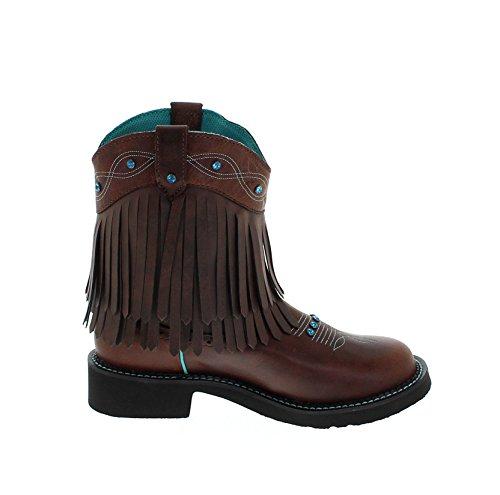 Braun Justin Lederstiefel L2932 für Westernreitstiefel Boots Cognac B Damen 0w0PRqr