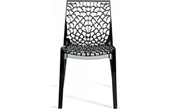Chaise Design Gruyere Grise Transparente
