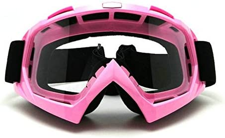 Heinmo Pink Frame Motocross Goggles Motorcycle ATV Dirt Bike Off-Road Sport Goggles Sunglasses