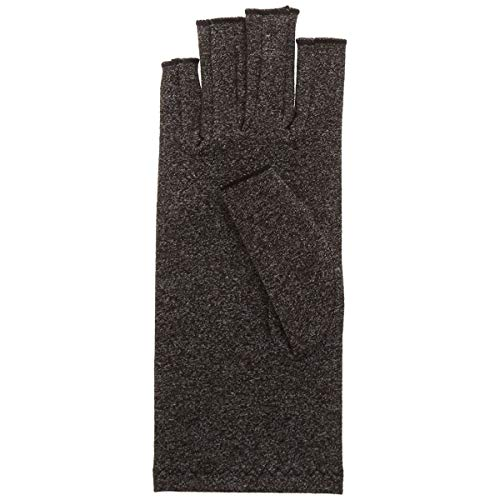 Rolyan Compression Glove, Right Hand, Small, Black, Comfortable & Breathable Blend of Lycra & Cotton, Open Tips, Relief From Rheumatoid Arthritis & Osteoarthritis Joint Pain, Swelling, & Stiffness