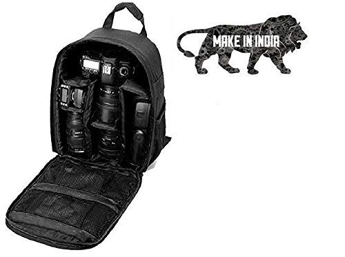 Mirror Camera Bag Camera Backpack Waterproof Fabric, Anyprize DSLR Camera, Lens, Tripod and Camera Accessories Camera Bag  (Black)