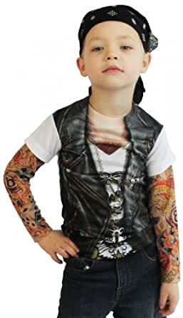 Tattoo long sleeve youth lg sports outdoors for Tattoo sleeves amazon