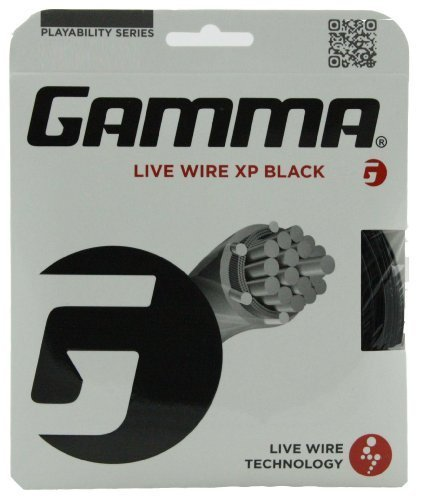 Gamma Sports Live Wire XP Tennis String, Black, 17g ()