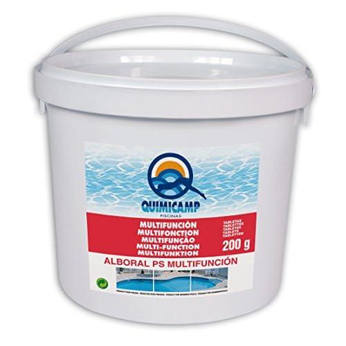 41s7v9i1uYL. SS500 Desinfectante esterilizante, clorado del agua de a piscina Cloro estabilizado de alta concentración, de disoluciónlenta para piscinas. no contine hipocloritos y no es alcalino Por su composición permite una cloración continua, evitando la pérdida de cloro por los efectos del sol