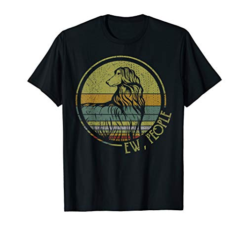 Retro Vintage Ew People Afghan Hound Tshirt Dog Lover Gifts