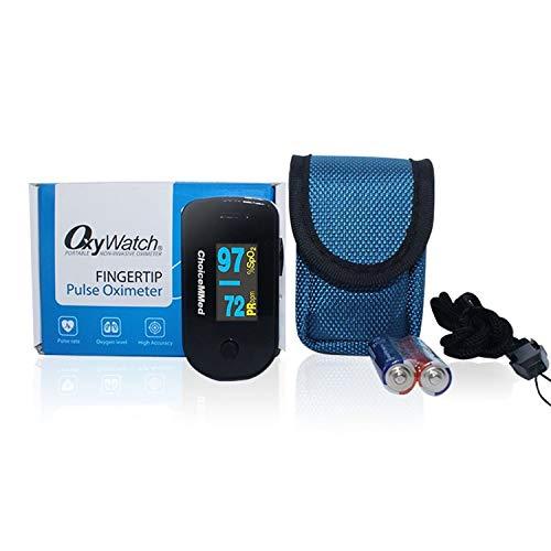 CHOICEMMED Black Dual Color OLED Finger Pulse Oximeter ...