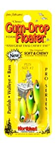 Northland Tackle Gum-Drop Floater, Firetiger, 2 Hook