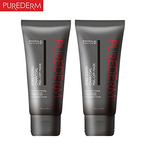 PUREDERM Pore Clean Charcoal Peel-Off Mask 100g x 2ea
