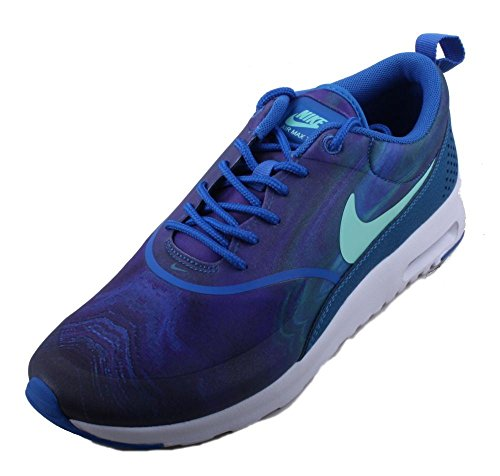 Nike Air Max Thea Print Womens Running-Shoes 599408 (8 B(M) US, Blue Spark/Blue Spark/Green Abyss/Green Glow)