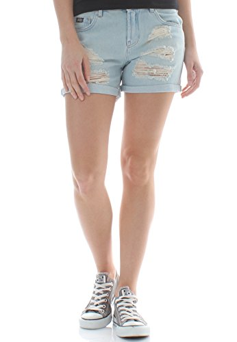 Superdry Shorts Damen Steph Boyfriend Short Holiday Blue