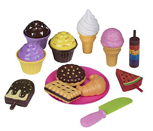 Cookie Food Fake (Playkidz Pretend Pastry Food, Pretend Play Set Toy Food, Educational Fun Little Pastries for Childrens Play Kitchen, Assortment of Fake Cookies, Cupcakes, Ice Cream etc.)