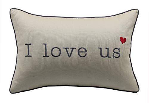 YugTex Pillowcases I Love us Embroidered Throw Pillow Cover Bridal Quote Decorative Pillowcase Wedding Anniversary Husband Hubby Cushion Cover(12