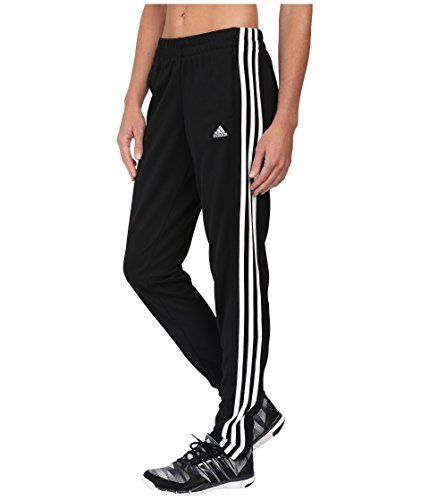 adidas Women's T10 Pants, Black/White, - Girls Pant Stripe