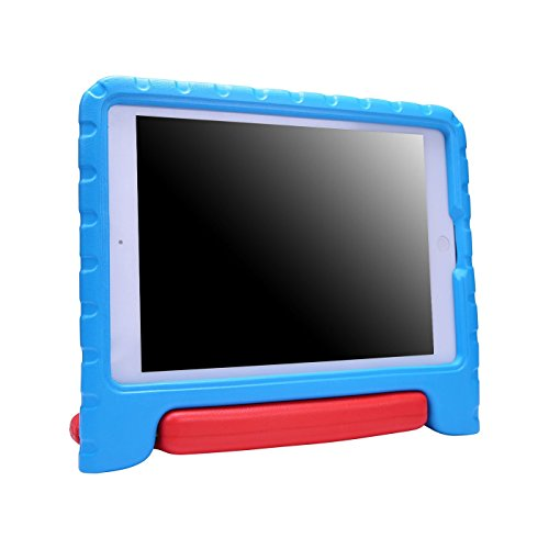 HDE Case for iPad 9.7 inch 2018 / 2017 Kids Shock Proof Bumper Cover Stand with Handle for New 6th Gen Apple Education iPad (Integrated Apple Pencil Holder) and 5th Generation iPad 9.7 - Blue & Red