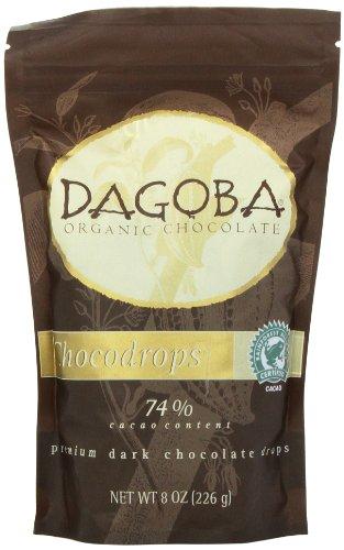 (DAGOBA CHOCODROPS Premium Baking Dark Chocolate Drops, 8 Ounce)