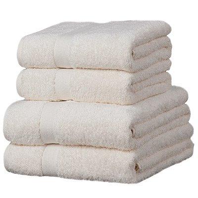 Linens Limited Luxor - 4 toallas para invitados - 100% algodón egipcio - Marfil: Amazon.es: Hogar