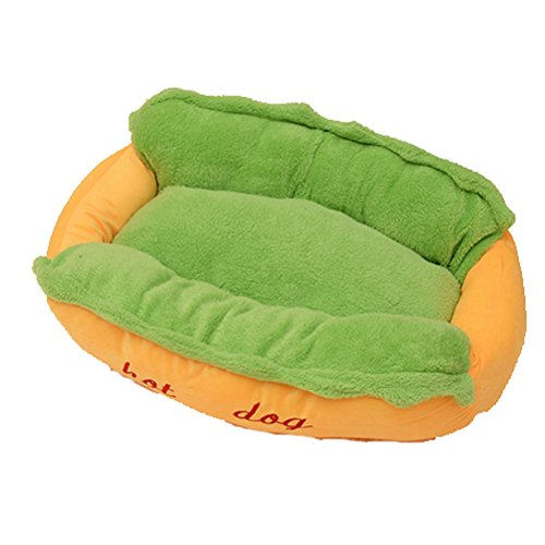 Pet Dog Cat Bed,Removable Washable Pets Mat Dogs Cats House Hot Dog Design (Small Size)