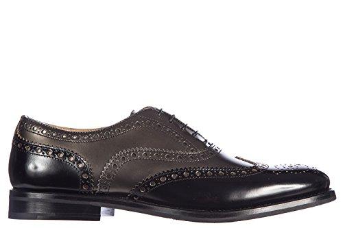 Church's clásico zapatos de cordones mujer en piel nuevo brogue bicolor negro negro