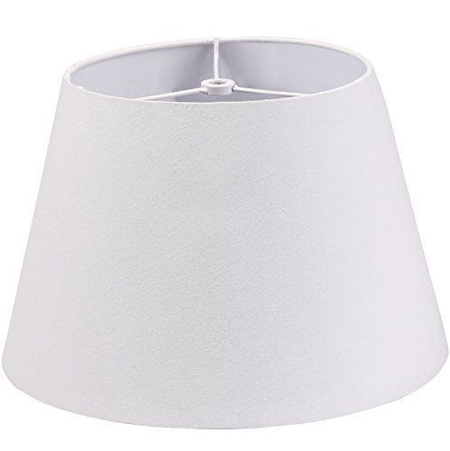 Lamp Shade IMISI Desk Lamp Table Lamp Shade Linen Fabric White Reading Lamp Shades 7.9 X 7.5 X 11.8 Inch Dining Standing White Lamp Shades for Men