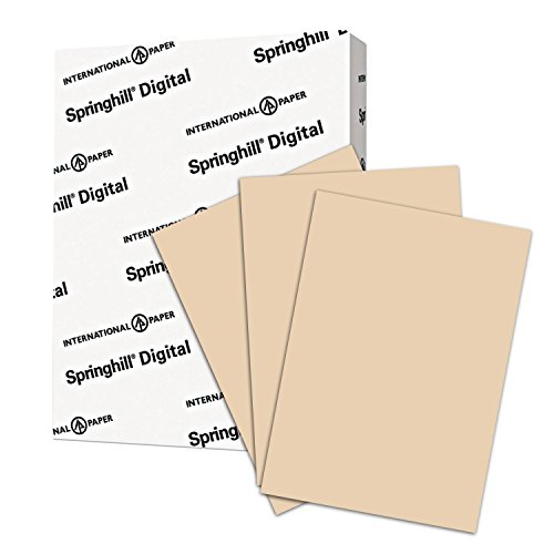 Springhill Colored Paper, Heavy Paper, Tan Paper, 24/60lb, 89gsm, Ledger, 11 x 17, 1 Ream / 500 Sheets - Opaque, Thick Paper ()