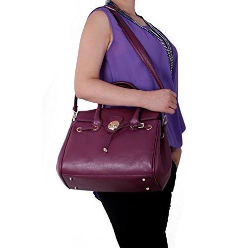 LEESUN LONDON - Bolsa Mujer, color azul, talla L C - Purple