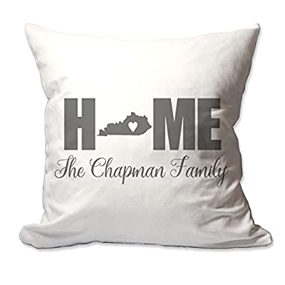 Personalized Kentucky Home with Heart Throw Pillow