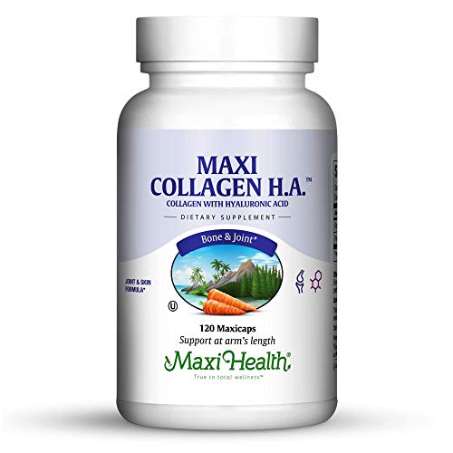 Maxi Health Collagen H.A. – with Hyaluronic Acid – Joint & Skin Formula – 120 Capsules – Kosher
