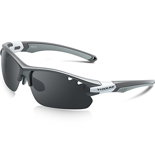 Woolike Sports Sunglasses Polarized Glasses For Women Man Cycling Running Fishing Golf Outdoor W-505 (Gray&Gray tips&Gray - Best For Women Running Sunglasses
