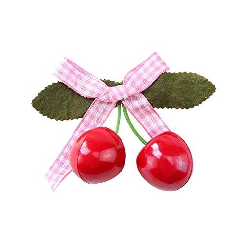 Hongxin Hair Jewelry Accessories Solid Color Red Cherry Polk Dot Strap Bowknot Cute Hairpin Bobby Pin Barrette Women Hair Clips Vintage Rockabilly Hair Band Hair Accessory - Dots Fun Grosgrain