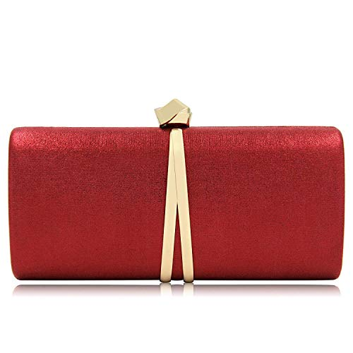 Yekajlin Evening Bags Dress Purse for Women Unique Party Evening Clutch (Red)