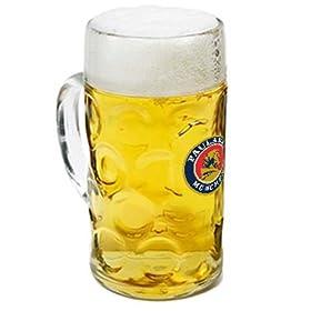 Paulaner Dimpled Isar Beer Mug – 1 Liter Mass Krug