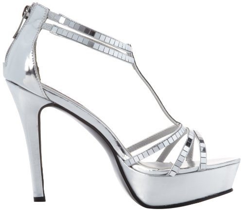 Dyeables Womens Shimmer Platform Sandal Silver Mirror 7l044HY