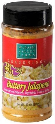 Wabash Valley Farms Popcorn Seasoning, Buttery Jalapeno, 10 oz 3 ct (Quantity of 2)