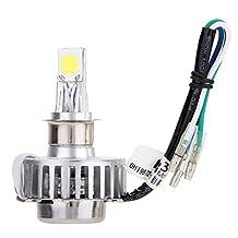 UEB Motorcycle Motorbike Headlight Headlamp 12V 12-18W 6000K LED Bi xenon H4 H6