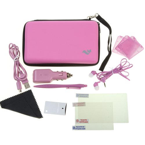 ButterFox Deluxe 12-in-1 Accessory Travel Pack / Case For the New 3DS XL Console: Pink (Nintendo 3DS XL)