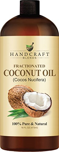 Hair Healthy Beauty Hacks. Fractionated Coconut Oil – 100% Pure & Natural Premium Therapeutic Grade – Huge 16 OZ - Coconut Carrier Oil for Aromatherapy, Massage, Moisturizing Skin & Hair